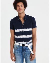 American Eagle - Ae Dye Effect Button-down Shirt - Lyst