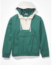 American Eagle Color-block Anorak - Outerwear - Men - Green