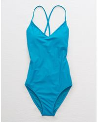American Eagle - Strappy Back One Piece Swimsuit - Lyst