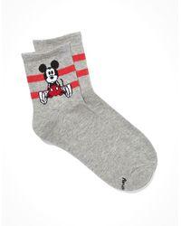 American Eagle X Disney Mickey & Minnie Boyfriend Sock - Grey