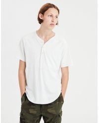 American Eagle - Ae Slub Henley T-shirt - Lyst