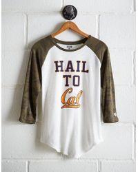 Tailgate Women's California Baseball Shirt - White