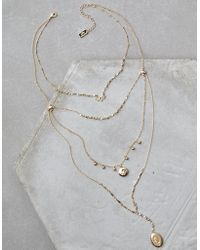 American Eagle - Gold Locket Layering Necklace - Lyst