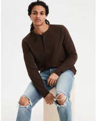 American Eagle - Ae Beyond-soft Henley Thermal - Lyst