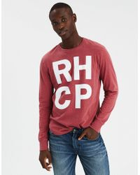 American Eagle - Ae Red Hot Chili Peppers Long Sleeve Graphic Tee - Lyst