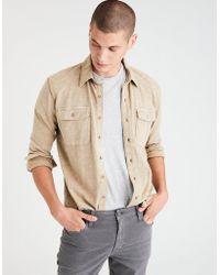 American Eagle - Ae Slub Jersey Button-down Shirt - Lyst