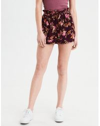 American Eagle - Ae Floral Paperbag Short - Lyst