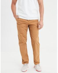 d715c2db Lyst - American Eagle Ae Ne(x)t Level Relaxed Straight Khaki Pant in ...