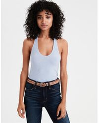 American Eagle - Ae Soft & Sexy Striped Halter Top - Lyst