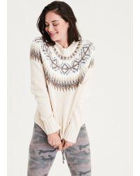 American Eagle - Ae Fair Isle Pullover Sweater - Lyst