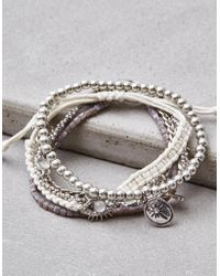 American Eagle - Grey Arm Party Bracelets - Lyst