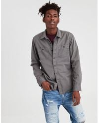 American Eagle - Ae Flannel Lined Button-down Overshirt - Lyst