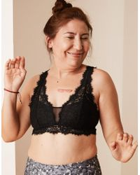 be58d10d67b Lyst - American Eagle Romantic Lace Padded Bralette in Black