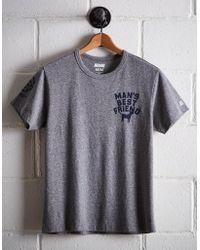 Tailgate Men's Man's Best Friend T-shirt - Gray