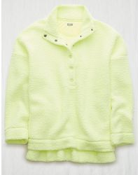 American Eagle Cloud Sherpa Oversized Pullover - Yellow