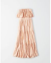 American Eagle Tiered Tube Babydoll Dress - Dresses - Pink