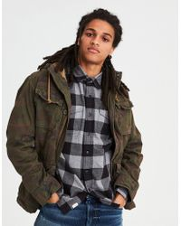 American Eagle Men S Green Ae Military Jacket