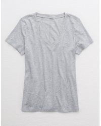 American Eagle V-neck T-shirt - Gray
