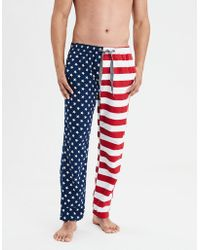 American Eagle - Americana Flannel Pajama Pant - Lyst