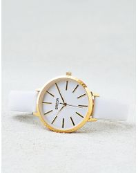 American Eagle - Breda Joule Gold & White Watch - Lyst