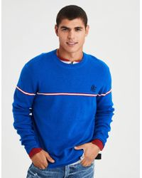 American Eagle - Ae Retro Athletic Crewneck Sweater - Lyst