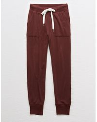 American Eagle Dreamy Soft Pocket Jogger - Red