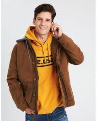 American Eagle - Ae Canvas Fleece Hood Jacket - Lyst