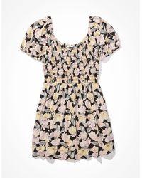 American Eagle - Printed Puff-sleeve Mini Dress - Dresses - Women - Lyst