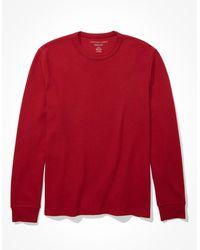 American Eagle Thermal shirt - Rot