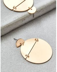 American Eagle - Gold Frontal Statement Earring - Lyst