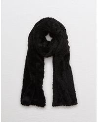 American Eagle Knit Sherpa Scarf - Black