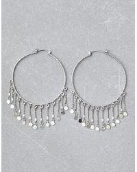 American Eagle - Silver Hoop Duster Earrings - Lyst