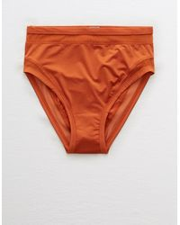 American Eagle Satin High Cut Bikini Underwear - Orange