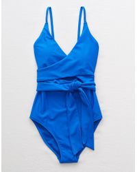 American Eagle - Wrap One Piece Swimsuit - Lyst