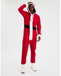 American Eagle - Santa One-piece Pajama Costume - Lyst