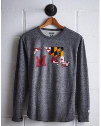 Tailgate Men's Maryland Thermal Shirt - Gray