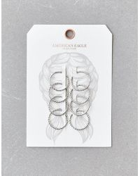 American Eagle Silver Hair Charm - Multicolor