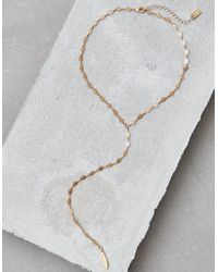 American Eagle - Gold Lariat Necklace - Lyst