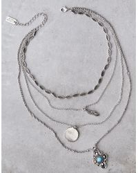 American Eagle - Layered Silver Necklace - Lyst
