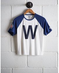 5ad5f43569c5b Tailgate - Women s Chicago Cubs Cut-off Baseball Tee - Lyst