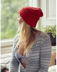 American Eagle - Cable Beanie - Lyst
