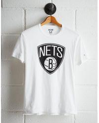 Tailgate Men's Brooklyn Nets Logo T-shirt - White