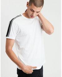 American Eagle - Ae Shoulder Stripe T-shirt - Lyst