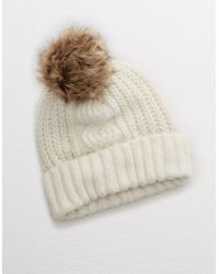 American Eagle - Cable Pom Beanie - Lyst