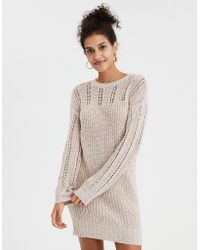 American Eagle - Ae Mix Stitch Balloon Sleeve Sweater Dress - Lyst