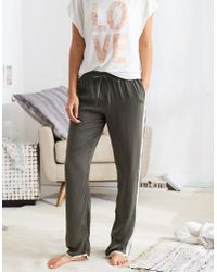 American Eagle - Satin Track Pant - Lyst