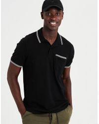 American Eagle - Ae Stretch Pique Tipped Pocket Polo - Lyst