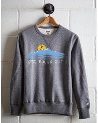 Tailgate Men's Ski Park City Fleece Sweatshirt - Gray