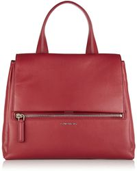 Givenchy Medium Pandora Pure Bag in Cherry Leather - Lyst