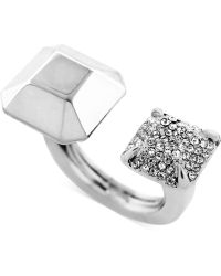 Vince Camuto - Pave Open Doublestone Ring - Lyst